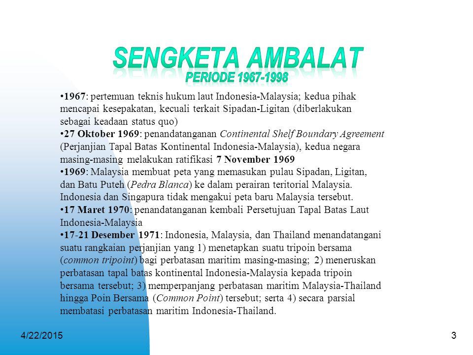 Sengketa Ambalat Periode 1967-1998