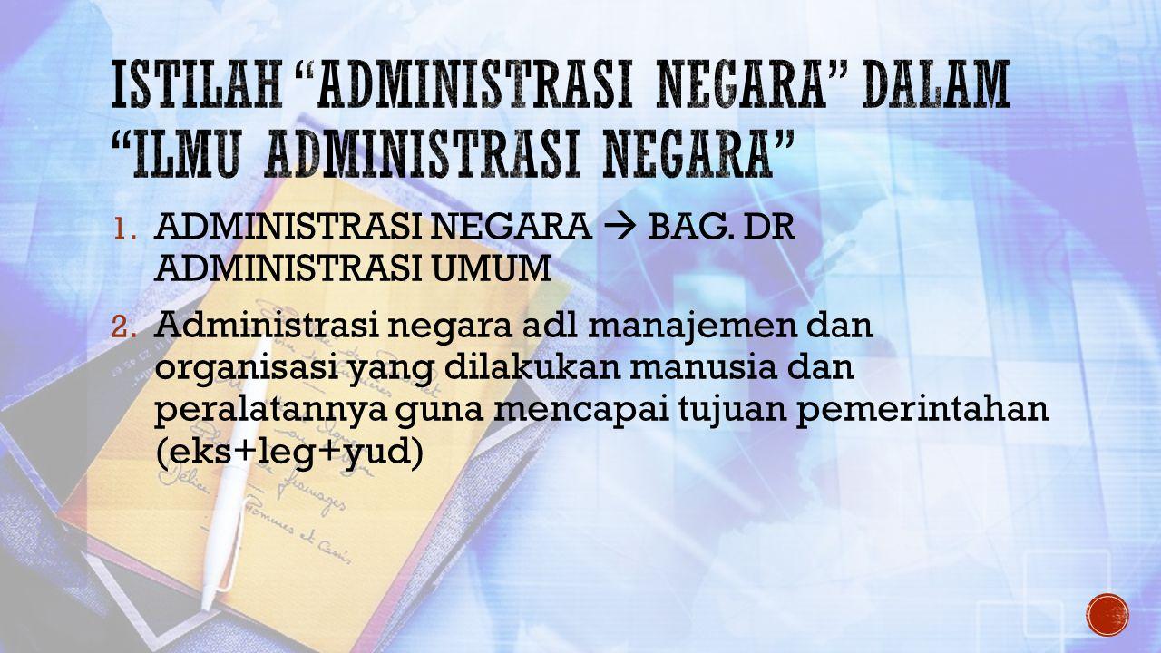 Istilah administrasi negara dalam ilmu administrasi negara