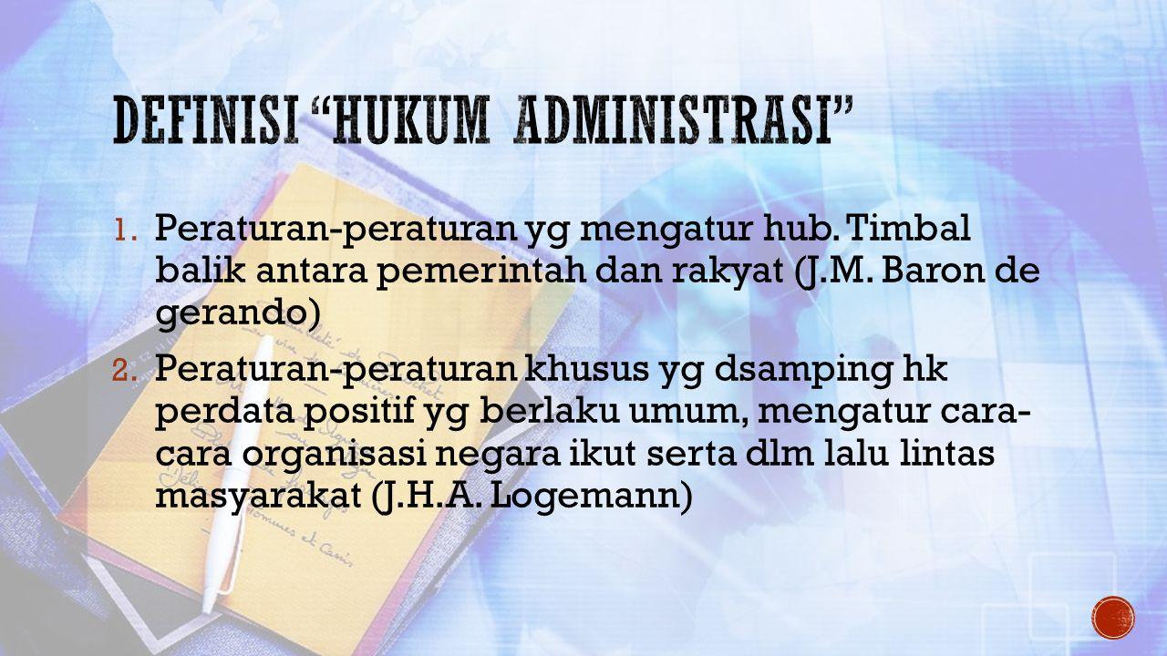 Definisi hukum administrasi