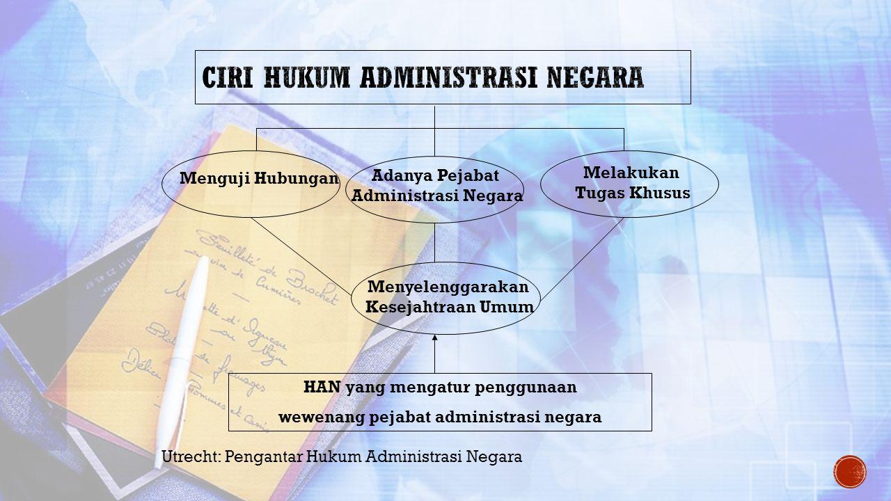 Ciri Hukum Administrasi Negara