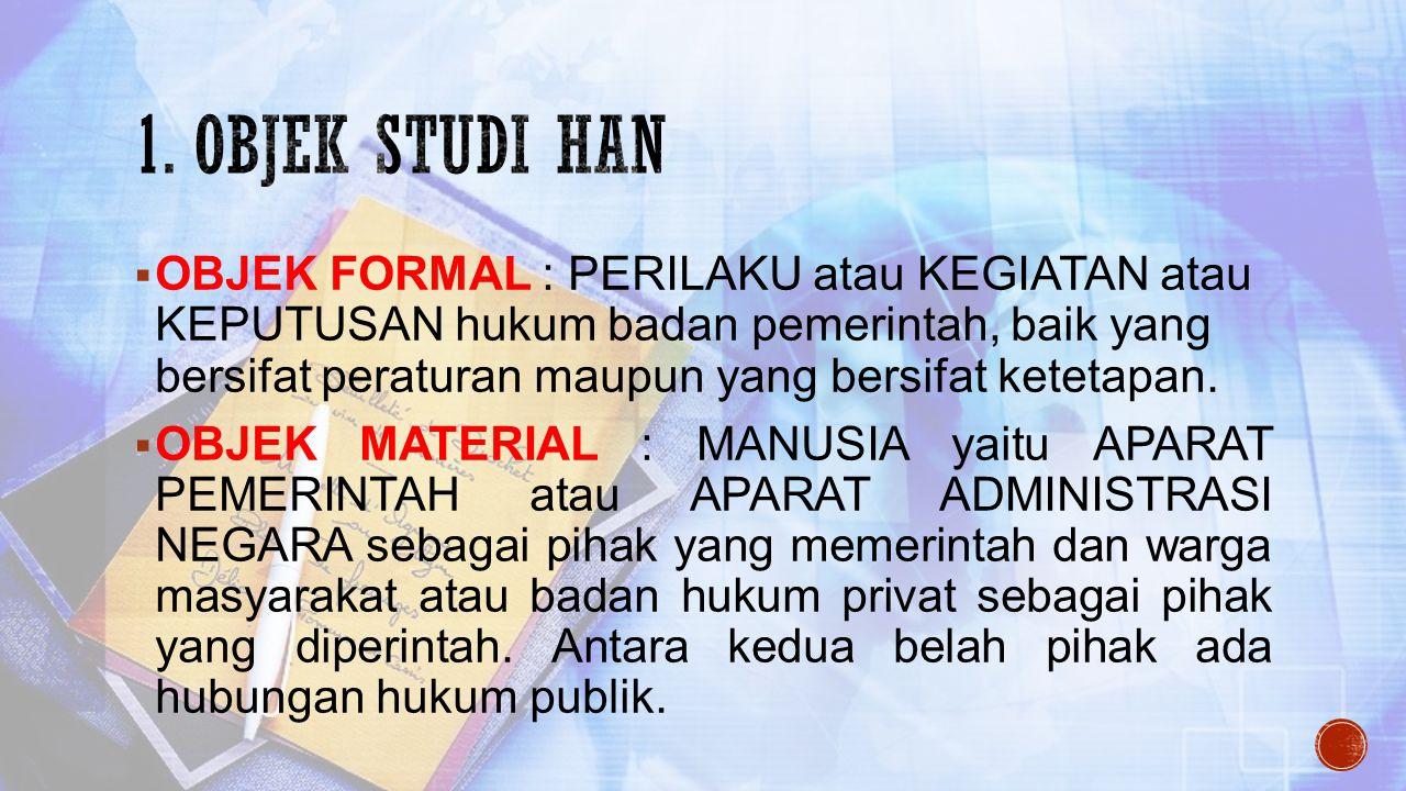 1. Objek Studi han