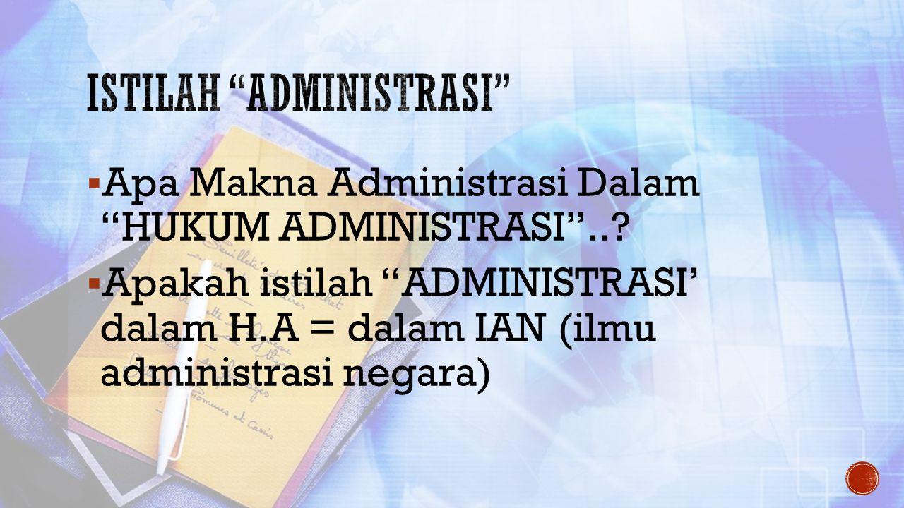 Istilah administrasi