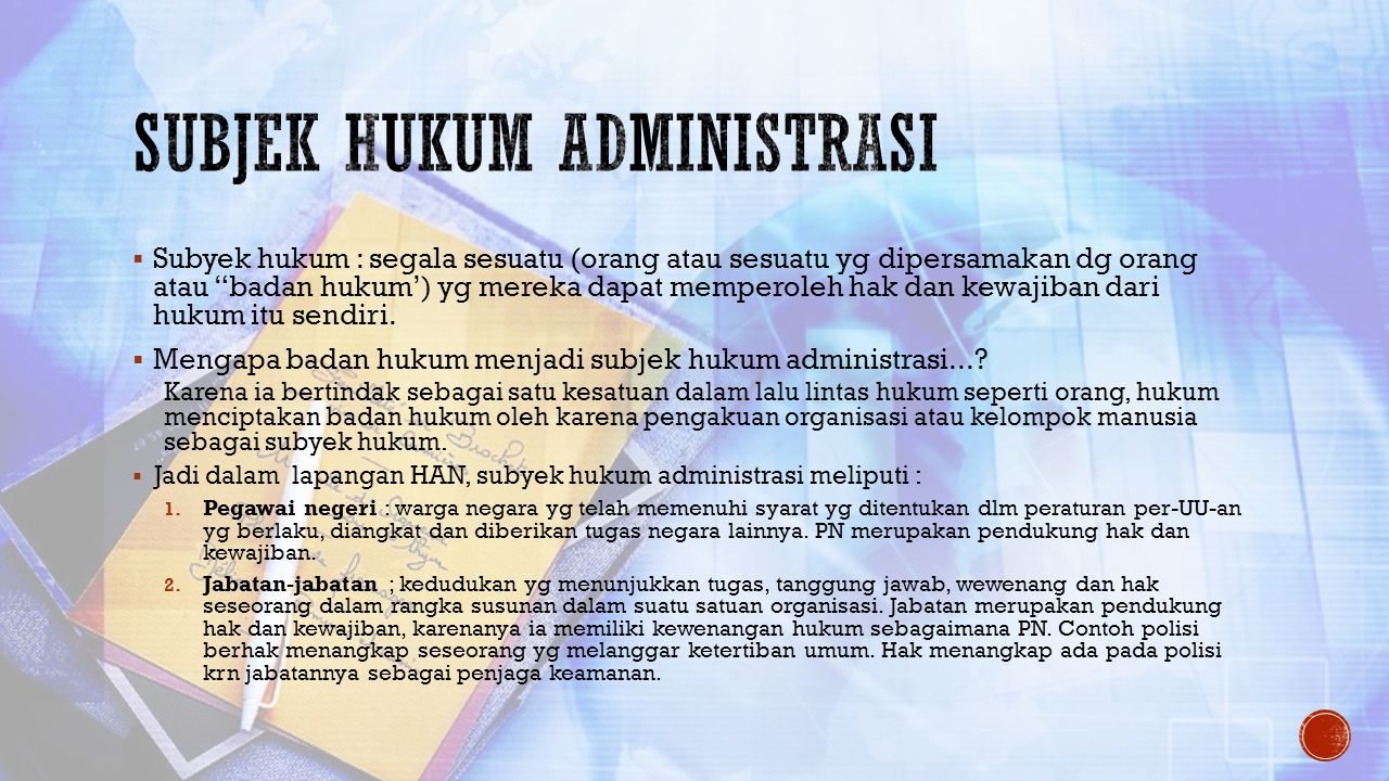 Subjek hukum administrasi