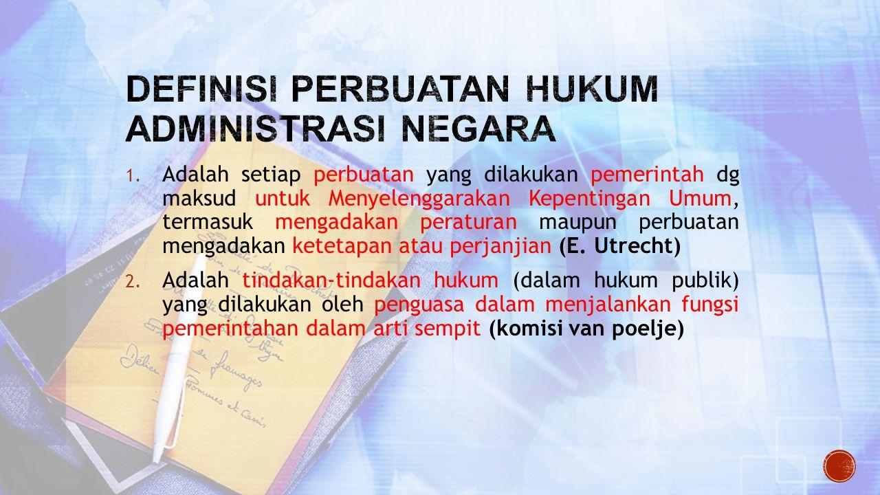 Definisi perbuatan hukum administrasi negara