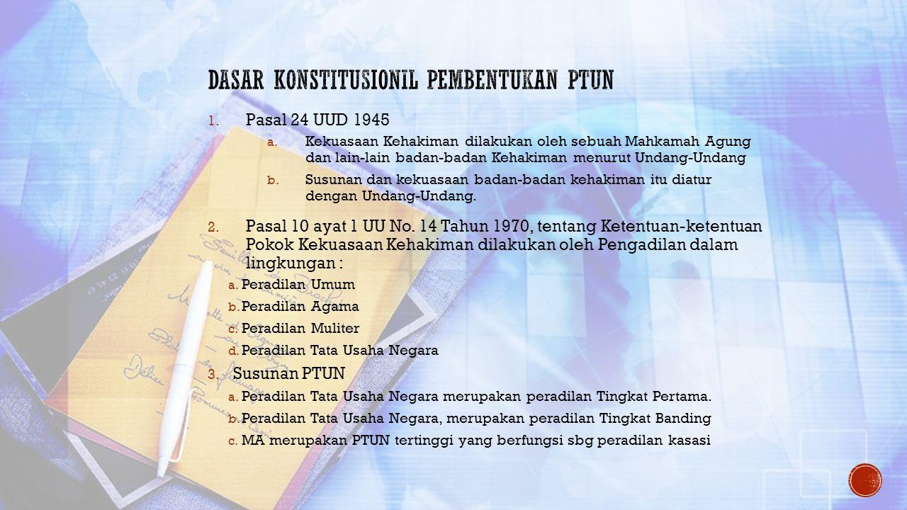 Dasar Konstitusionil Pembentukan PTUN