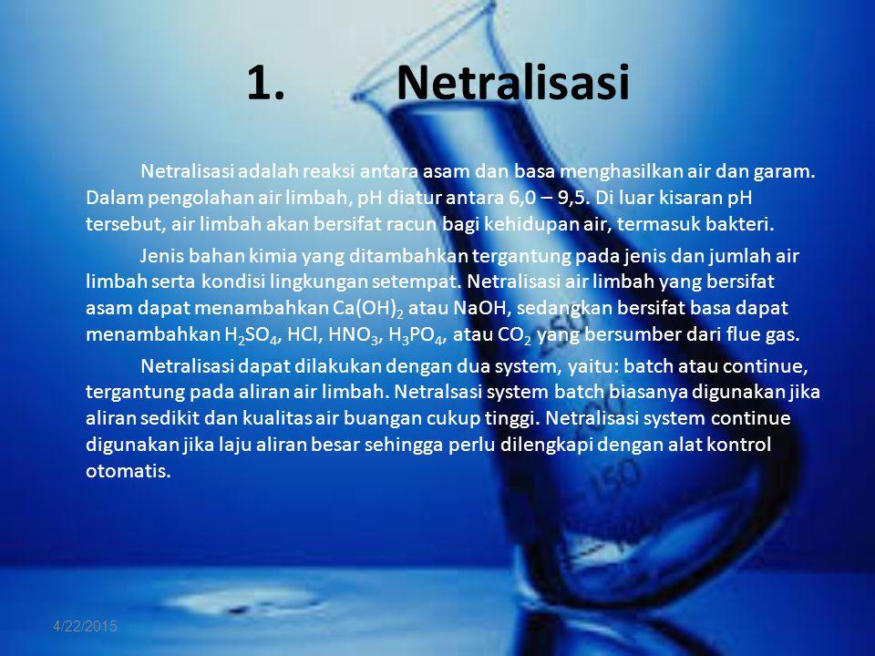 1. Netralisasi