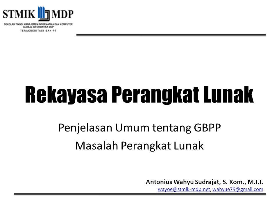 Penjelasan Umum tentang GBPP Masalah Perangkat Lunak