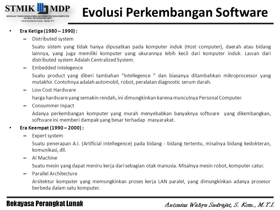 Evolusi Perkembangan Software