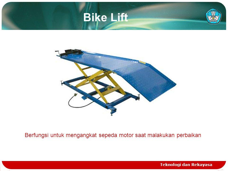 Berfungsi untuk mengangkat sepeda motor saat malakukan perbaikan