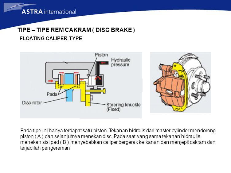TIPE – TIPE REM CAKRAM ( DISC BRAKE )
