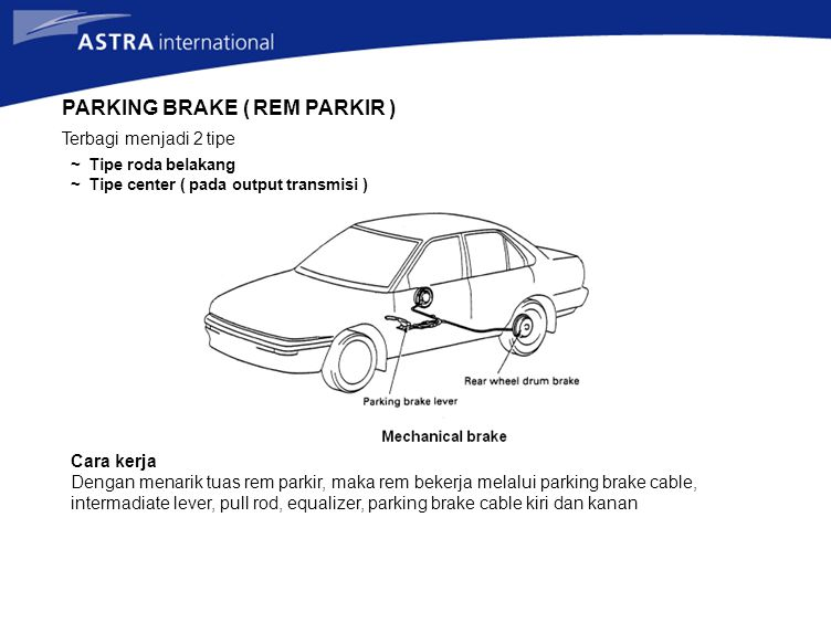 PARKING BRAKE ( REM PARKIR )