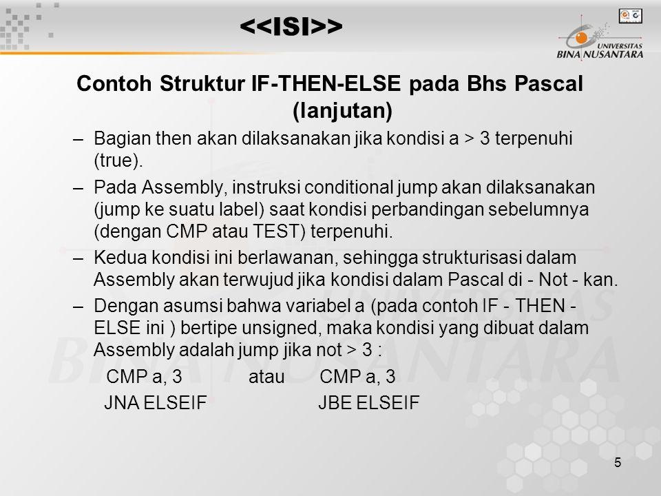 Contoh Struktur IF-THEN-ELSE pada Bhs Pascal (lanjutan)