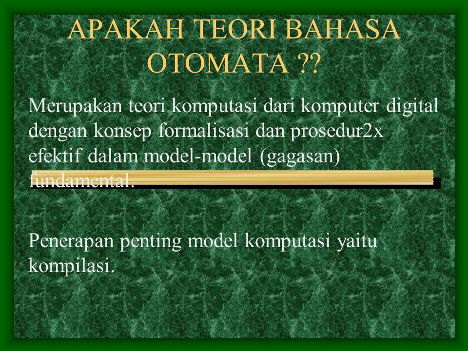 APAKAH TEORI BAHASA OTOMATA