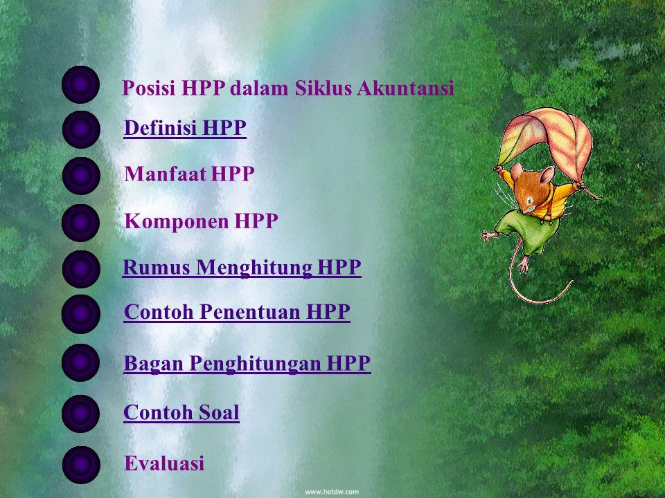 HARGA POKOK PENJUALAN Posisi HPP dalam Siklus Akuntansi Definisi HPP