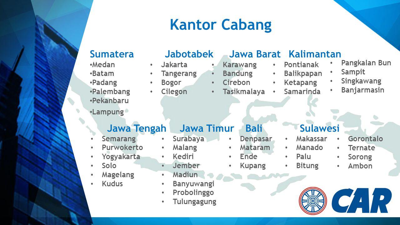 Kantor Cabang Sumatera Jabotabek Jawa Barat Kalimantan Jawa Tengah