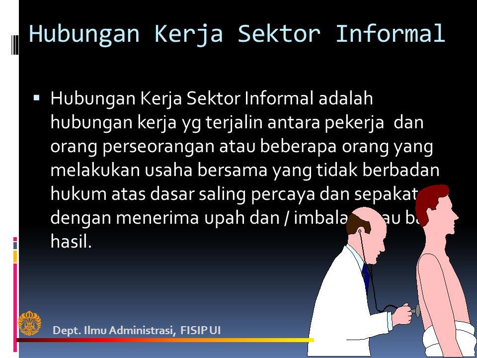 Hubungan Kerja Sektor Informal