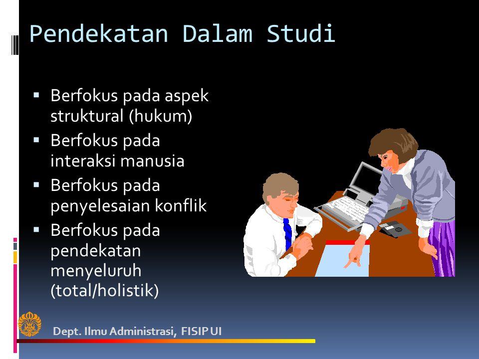 Pendekatan Dalam Studi