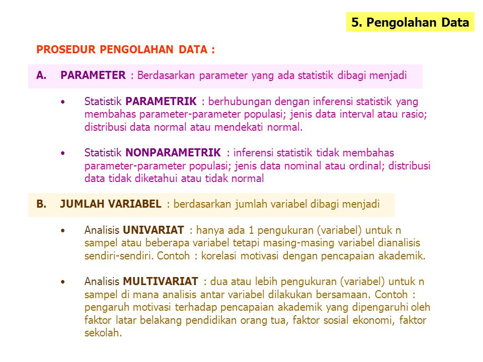 5. Pengolahan Data PROSEDUR PENGOLAHAN DATA :