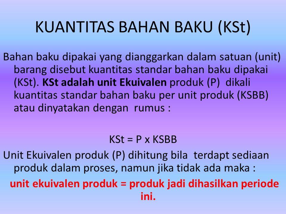 KUANTITAS BAHAN BAKU (KSt)