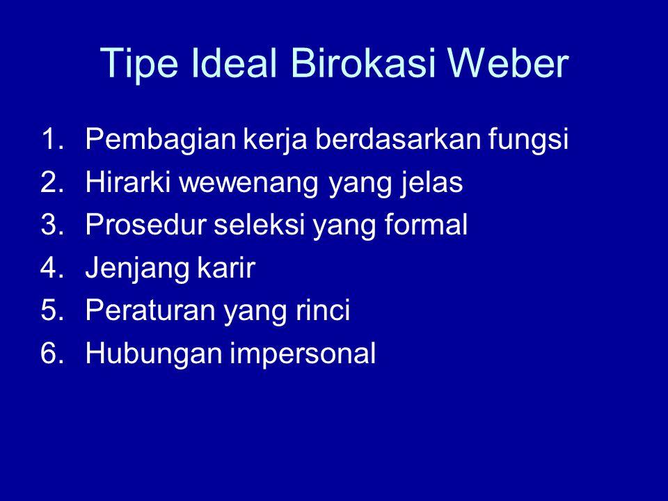 Tipe Ideal Birokasi Weber