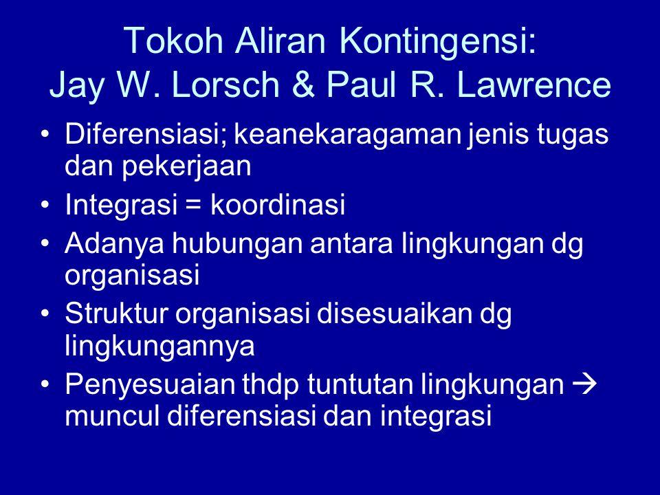 Tokoh Aliran Kontingensi: Jay W. Lorsch & Paul R. Lawrence