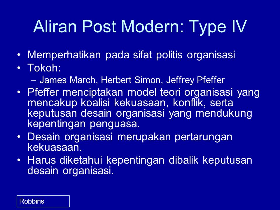 Aliran Post Modern: Type IV