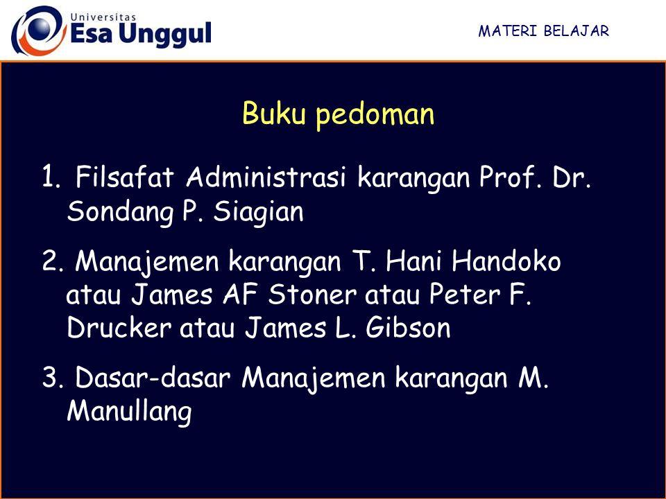 Filsafat Administrasi karangan Prof. Dr. Sondang P. Siagian