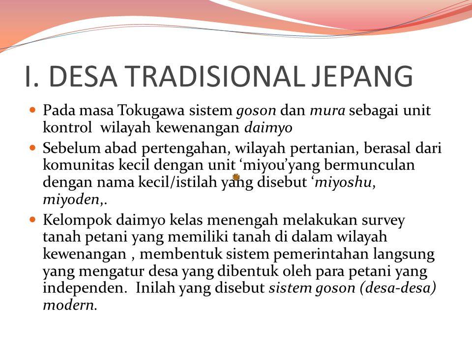 I. DESA TRADISIONAL JEPANG