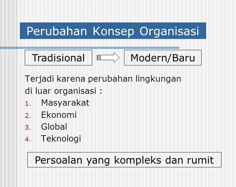 Perubahan Konsep Organisasi