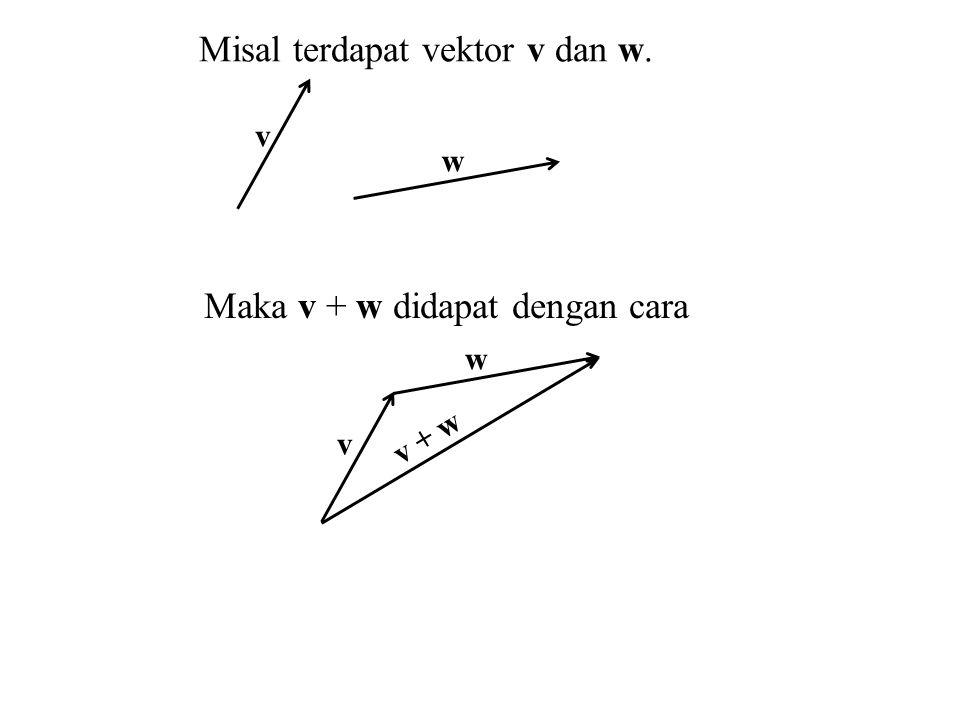 Misal terdapat vektor v dan w.