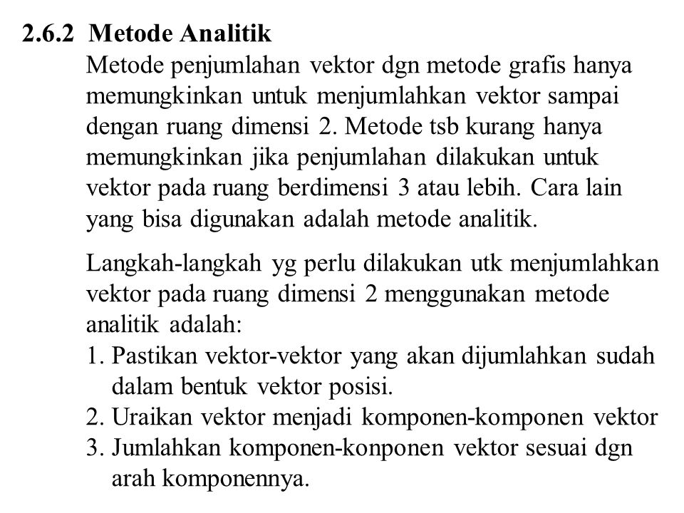 2.6.2 Metode Analitik