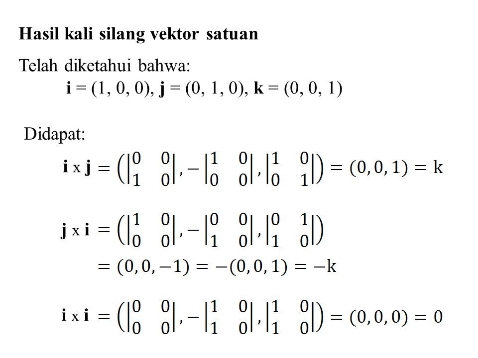 Hasil kali silang vektor satuan