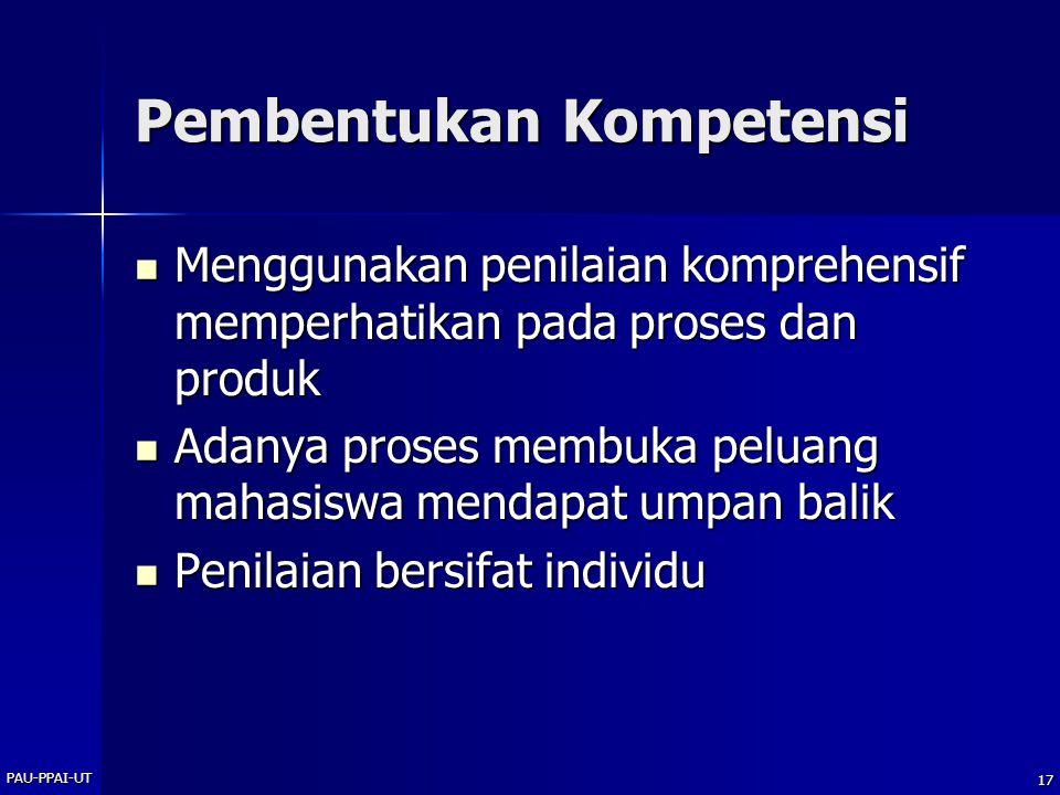 Pembentukan Kompetensi