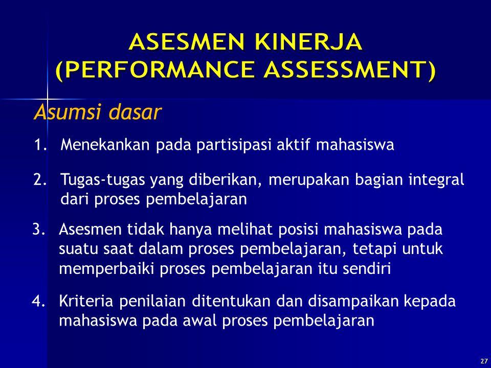 (PERFORMANCE ASSESSMENT)
