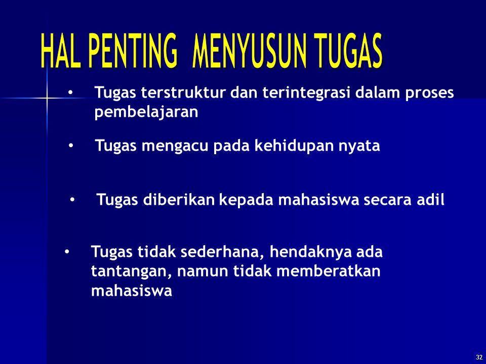 HAL PENTING MENYUSUN TUGAS