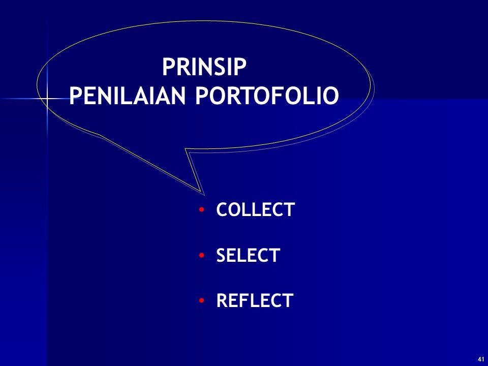 PRINSIP PENILAIAN PORTOFOLIO