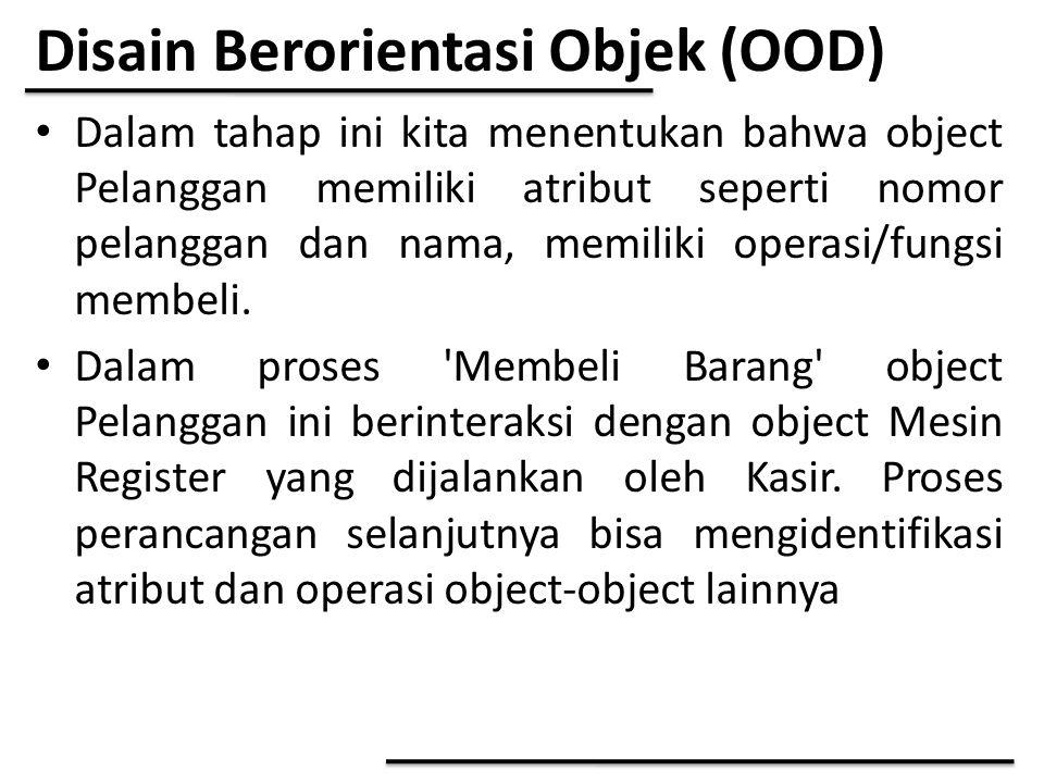 Disain Berorientasi Objek (OOD)