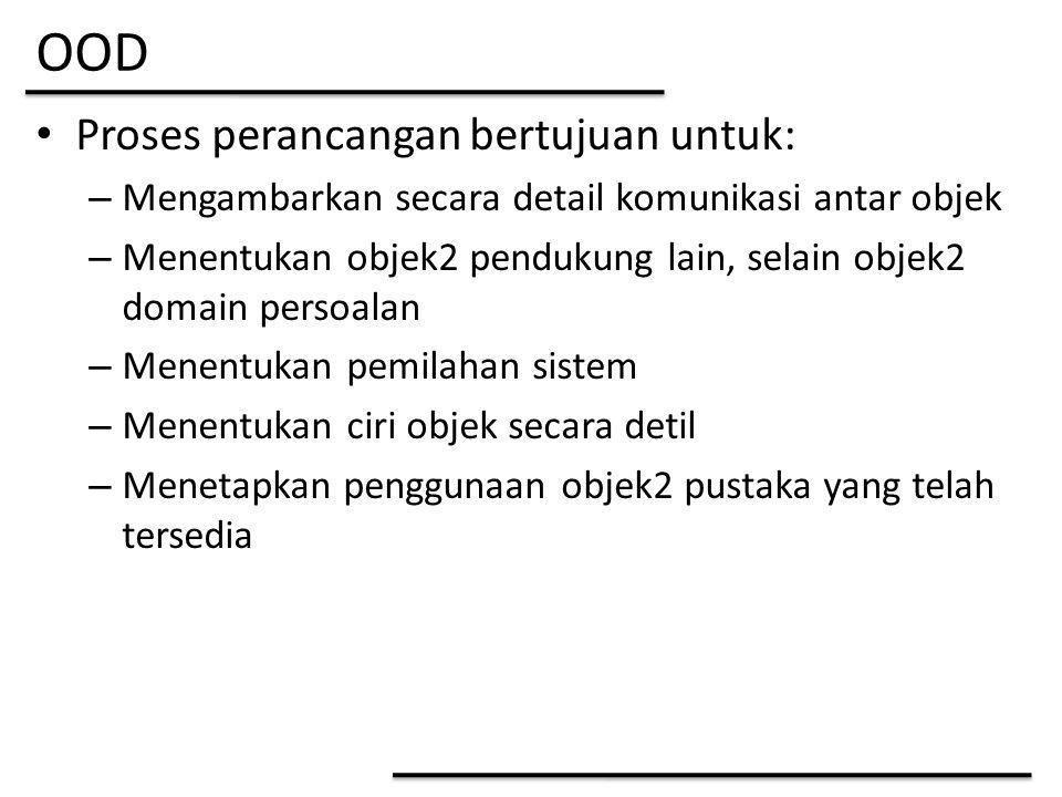 OOD Proses perancangan bertujuan untuk: