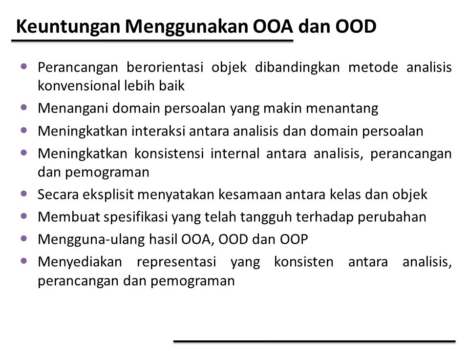 Keuntungan Menggunakan OOA dan OOD
