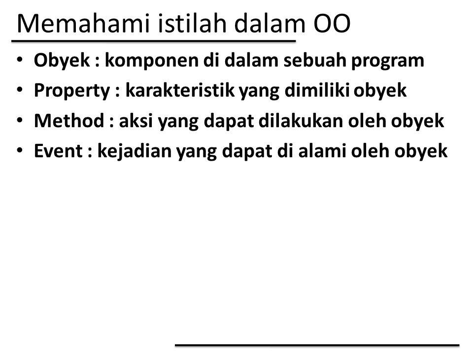 Memahami istilah dalam OO