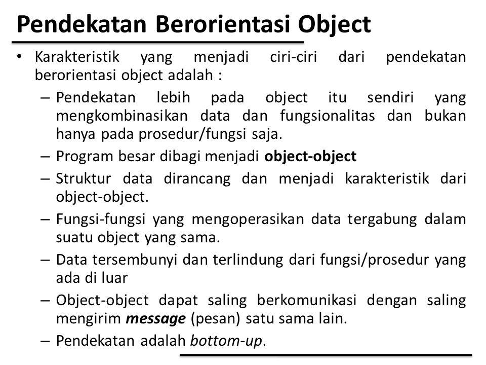 Pendekatan Berorientasi Object