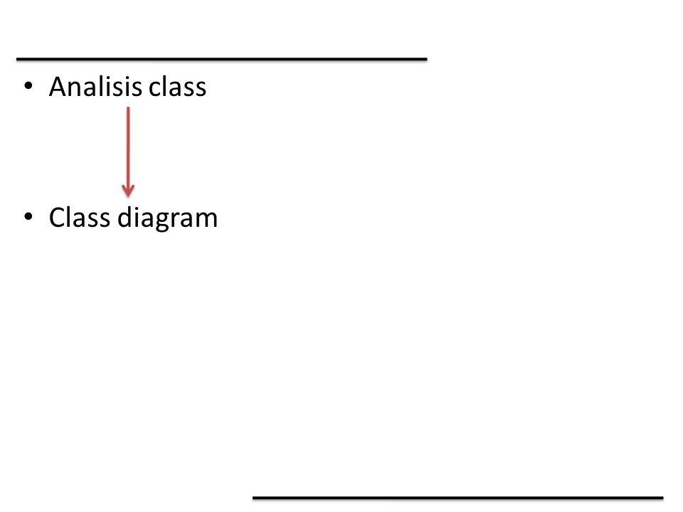 Analisis class Class diagram