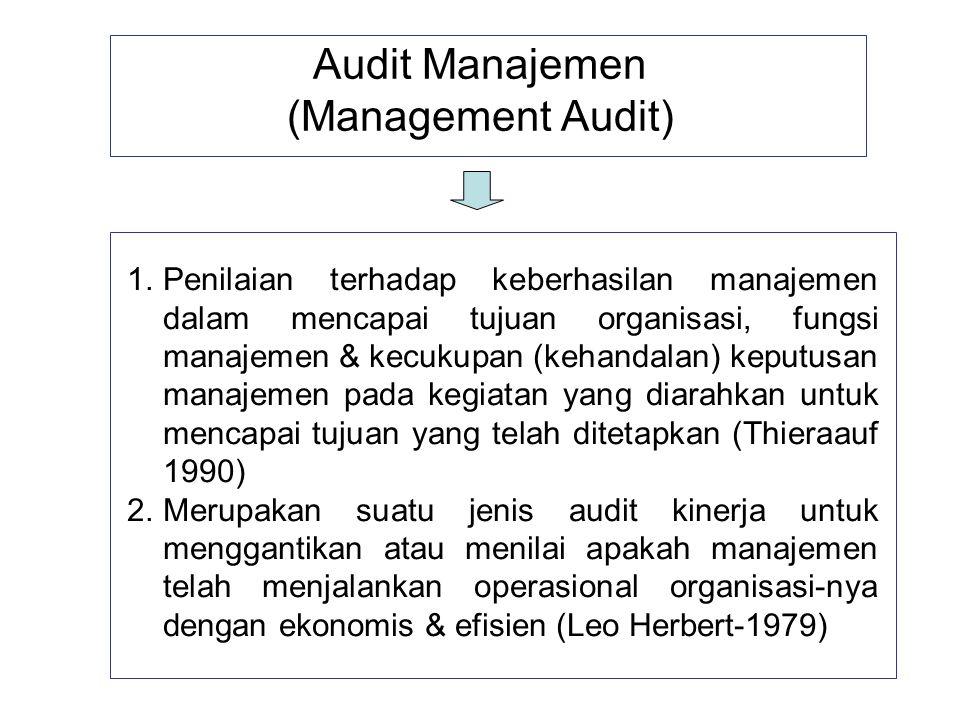 Audit Manajemen (Management Audit)