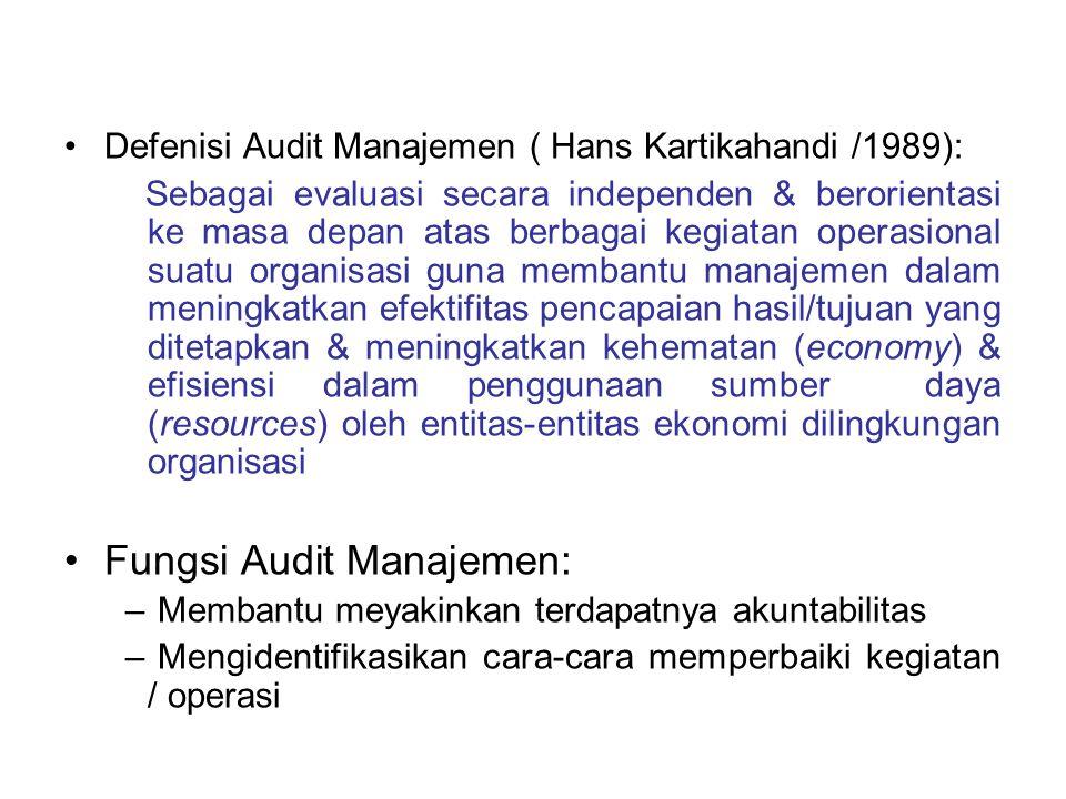 Fungsi Audit Manajemen: