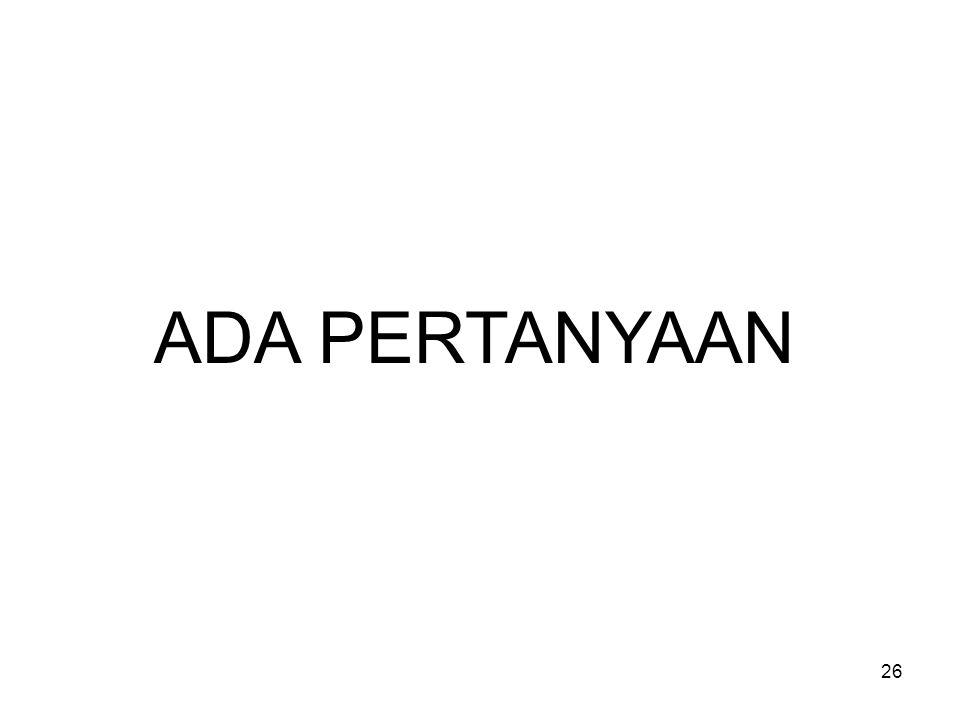 ADA PERTANYAAN