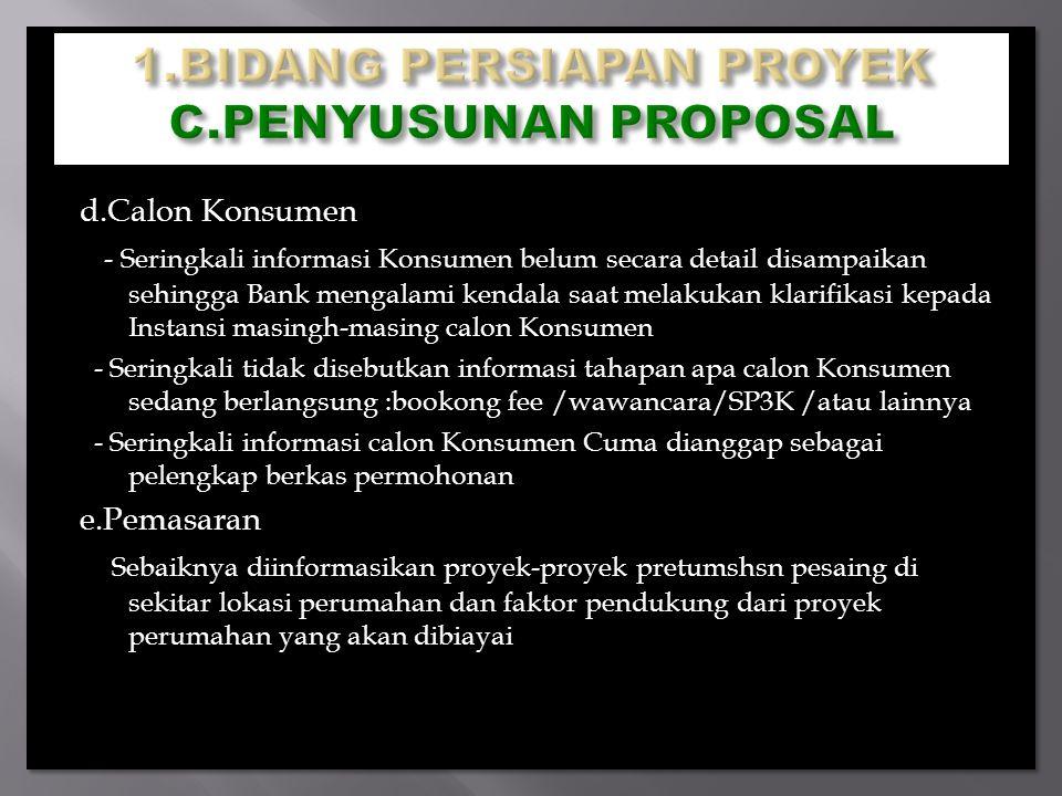 1.BIDANG PERSIAPAN PROYEK C.PENYUSUNAN PROPOSAL