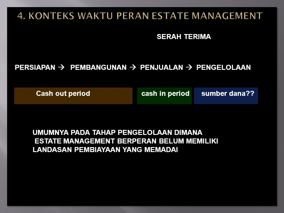 4. KONTEKS WAKTU PERAN ESTATE MANAGEMENT
