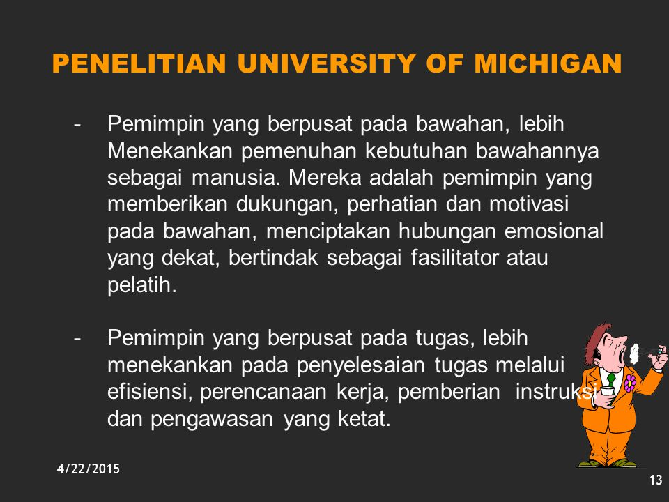 PENELITIAN UNIVERSITY OF MICHIGAN