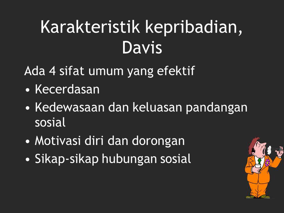 Karakteristik kepribadian, Davis
