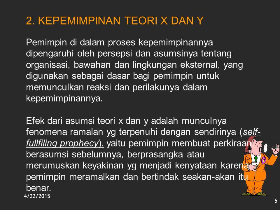 2. KEPEMIMPINAN TEORI X DAN Y